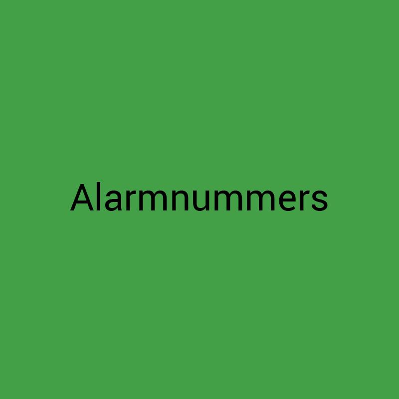 Alarmnummers
