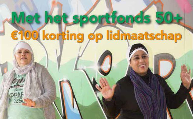 Sportfonds 50+ €100 korting en kennismaken