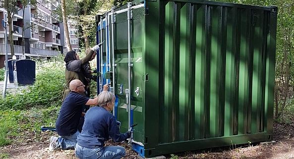 Groengroep container groen!