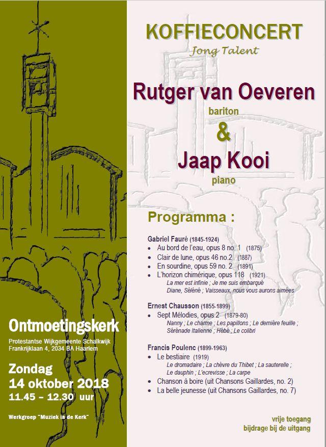 Koffieconcert Ontmoetingskerk 14 oktober