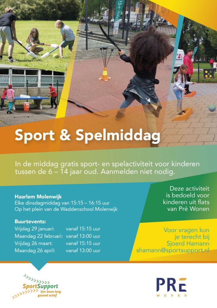Sport en Spelmiddag Haarlem-Molenwijk